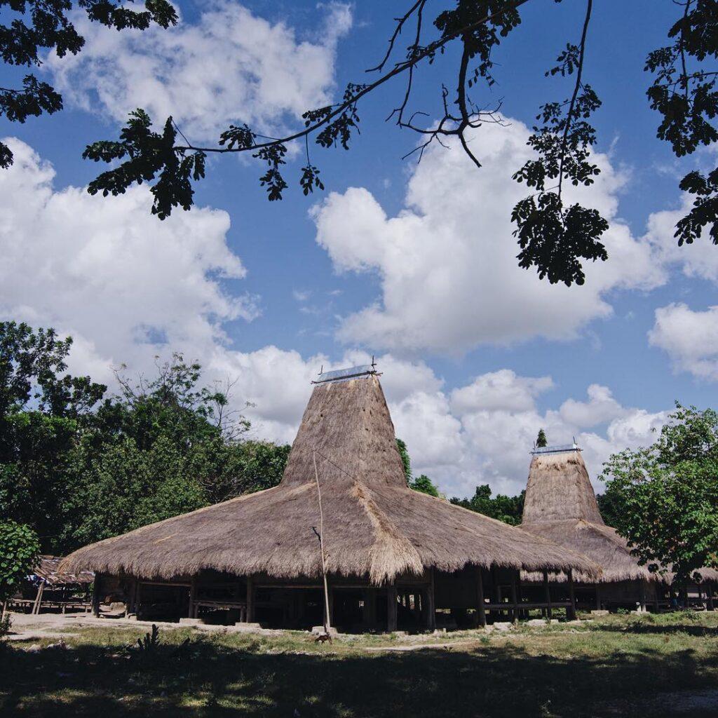 Rumah tradisional di Kampung Pau Umabara Sumba. Foto: instagram/sumbamemories